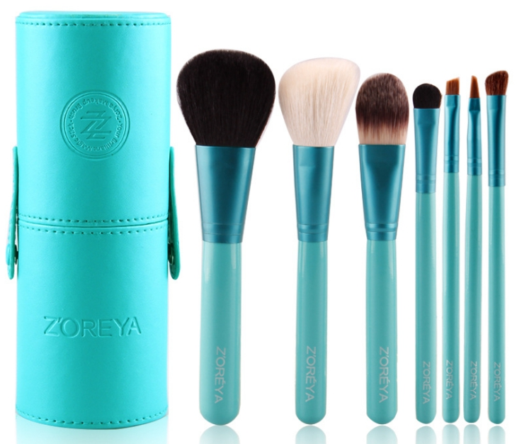 Набор кистей для макияжа Zoreya 7 шт ( зеленый)