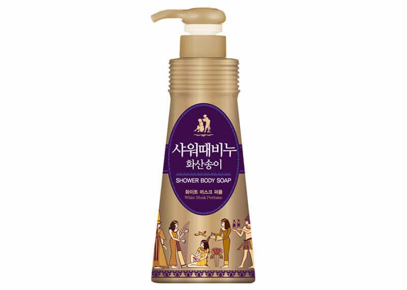 Гель-эксфолиант для душа с вулканической лавой Mukunghwa Jeju Volcanic Scoriz Shower Body Soap