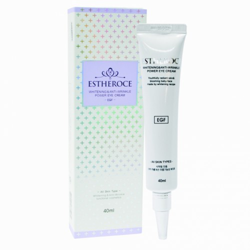 Крем для век омолаживающий сEGF ESTHEROCE WHITENING & ANTI-WRINKLE POWER EYE CREAM 40ml