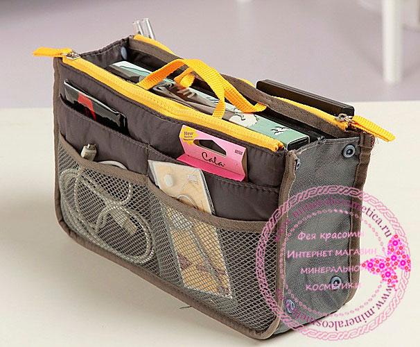 Органайзер для сумочки серая