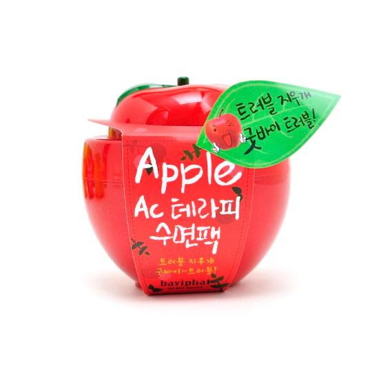 Маска ночная от акне и воспалений  для проблемной кожи яблоко Apple AC Therapy Sleeping Pack