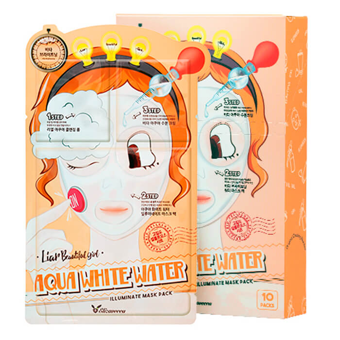 3- Шаговая маска для лица увлажняющая ELIZAVECCA 3-Step Aqua White Water Mask Pack