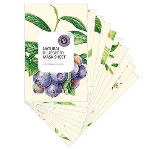 Маска тканевая с экстрактом черники Natural Blueberry Mask Sheet