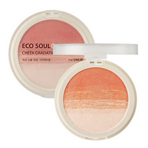 Румяна компактные 02 Eco Soul Cheek Gradation 02 Sunny Side