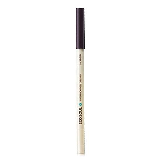 Карандаш для глаз водостойкий гелевый 12 Eco Soul Waterproof Gel eyeliner 12 Dawning Dark Purple