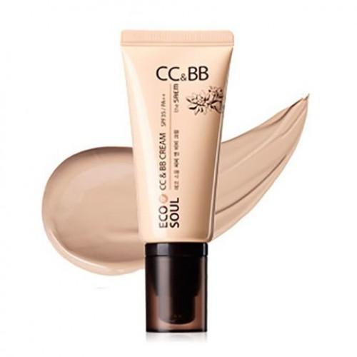 СС и ББ крем в одном флаконе ECO SOUL CC & BB Cream SPF35/PA++ 01.Pink beige