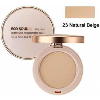 Пудра фотошоп Eco Soul Luminous Photoshop Pact 23 Natural Beige