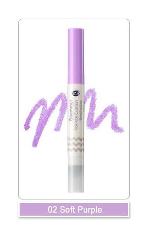 Тени для век с аппликатором Saemmul Kok Kok Cushion Eyeshadow PP01 Soft purple