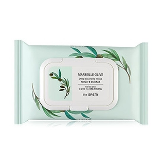 Салфетки очищающие MARSEILLE OLIVE Deep Cleansing Tissue