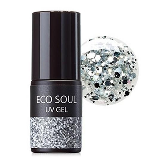 Гель-лак для ногтей Eco Soul Nail Collection UV GEL GSI01 Sliver Dia