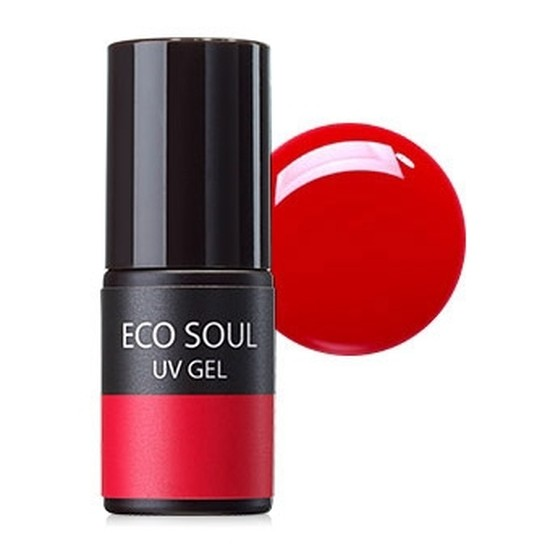 Гель-лак для ногтей Eco Soul Nail Collection UV GEL RD01 Real Red