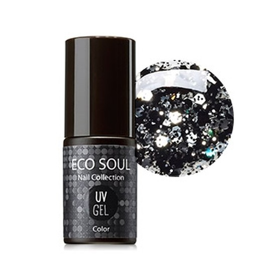 Гель-лак для ногтей Eco Soul Nail Collection UV GEL GBK01 Black Dia