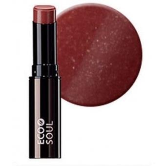 Помада увлажняющая сияющая Eco Soul Moisture Shine Lipstick BR01 Namsan Brown