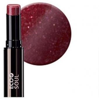 Помада увлажняющая сияющая Eco Soul Moisture Shine Lipstick RD02 Han gang Red