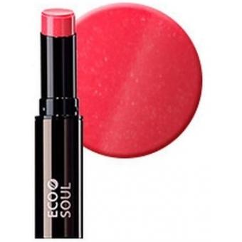 Помада увлажняющая сияющая Eco Soul Moisture Shine Lipstick PK01 Hong-dae Pink