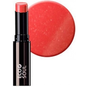 Помада увлажняющая сияющая Eco Soul Moisture Shine Lipstick OR01 Gwanghwamun Orange