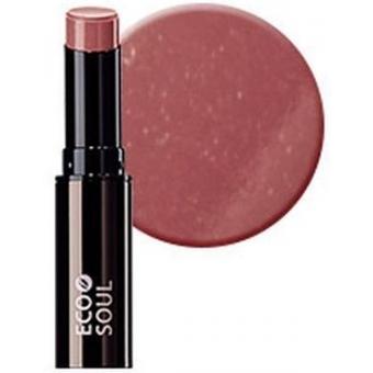 Помада увлажняющая сияющая Eco Soul Moisture Shine Lipstick BE01 Kyeongridan-gil Pink Beige