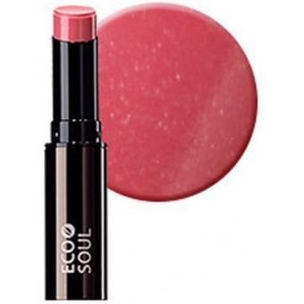 Помада увлажняющая сияющая Eco Soul Moisture Shine Lipstick PK02 Garosu-gil Pink