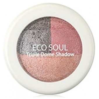 Тени для век тройные Eco Soul Triple DomeShadow CR01 Unforgettable Coral