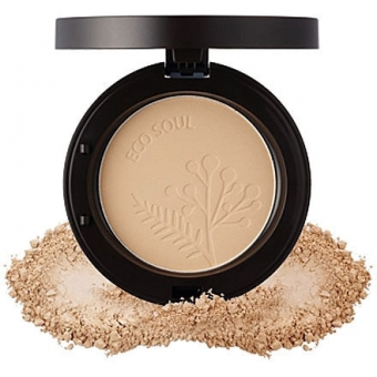 Пудра компактная Eco Soul Real Fit Powder Pact 23 Rich Beige(2015 New)