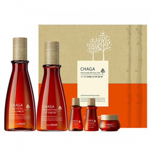 Набор антивозрастной с экстрактом чаги CHAGA Anti-wrinkle Skin Care 2 Set