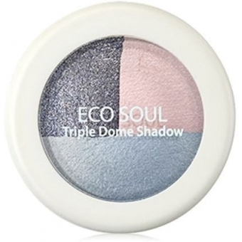 Тени для век тройные Eco Soul Triple Dome Shadow BL01 Mutual Love Blue