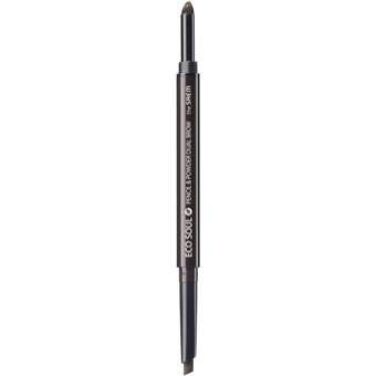 Карандаш-пудра для бровей Eco Soul Pencil & Powder Dual Brow 02.Deep Brown