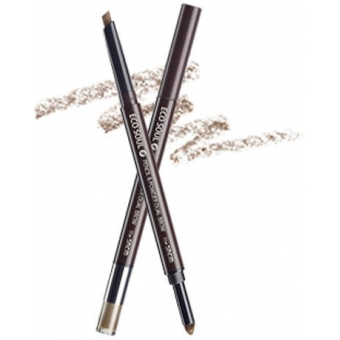 Карандаш-пудра для бровей Eco Soul Pencil & Powder Dual Brow 01. natural brow