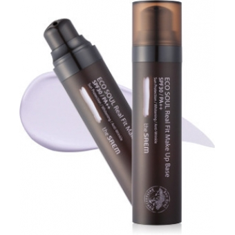 База под макияж ECO SOUL Real Fit Make Up Base 02.Lavender