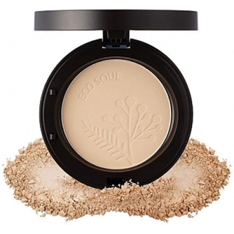 Пудра компактная ECO SOUL Real Fit Powder Pact 21.Clear Beige (2015 New)