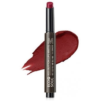 Помада для губ матовая 08 Eco Soul Kiss Button Lips Matte 08 Red Pepper