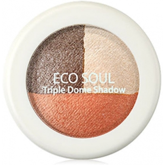 Тени для век тройные Eco Soul Triple Dome Shadow OR01Sniper Mode Orange