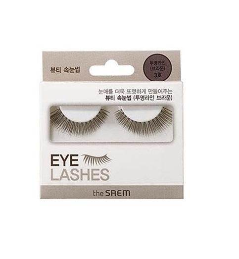Накладные ресницы коричневые Eyelash Clear Line 3