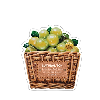 Маска тканевая  виноград New_Natural-tox Green Grape Mask Sheet