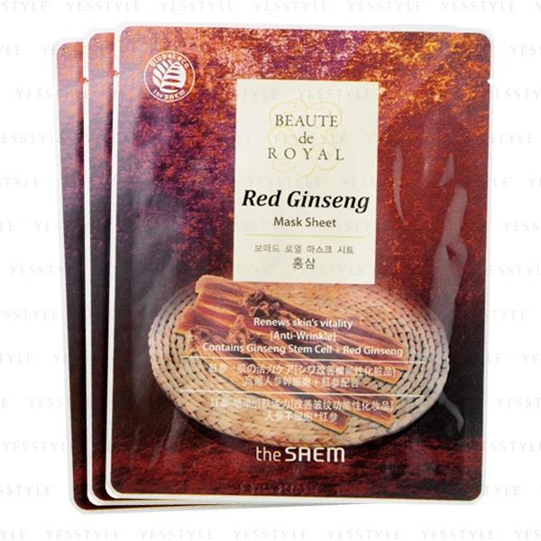 Маска Beaute тканевая с экстрактом женьшеня Beaute de Royal Mask Sheet - Red Ginseng