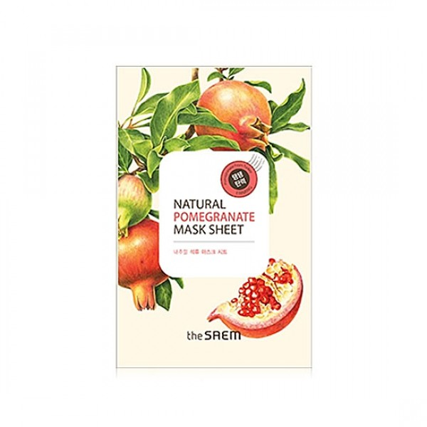 Маска тканевая с экстрактом граната Natural Pomegranate Mask Sheet