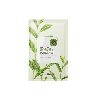 Маска тканевая с экстрактом зеленого чая Natural Green Tea Mask Sheet