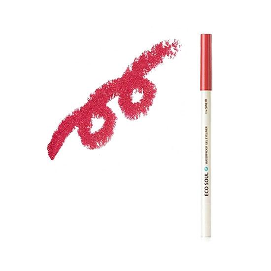 Карандаш для глаз водостойкий гелевый 04 Eco Soul Waterproof Gel eyeliner  04 Coral pink