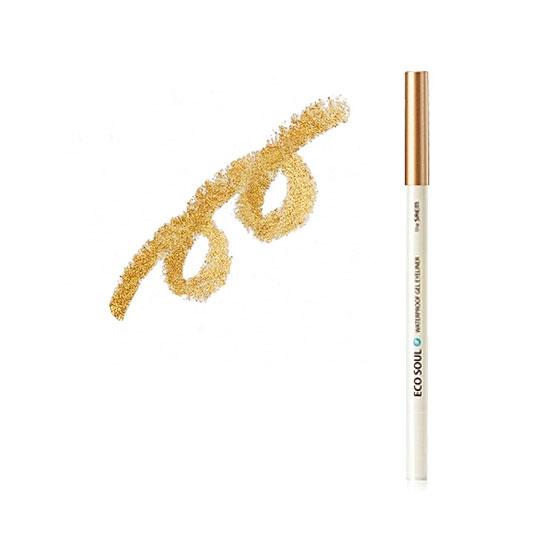 Карандаш для глаз водостойкий гелевый 06 Eco Soul Waterproof Gel eyeliner 06 Golden sand yellow