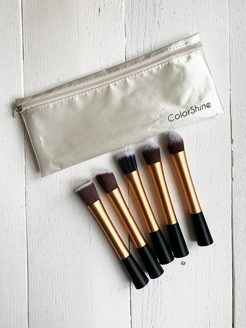 Набор из 5 кистей для макияжа в сумочке