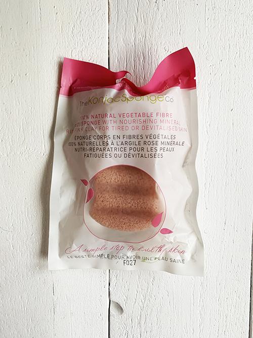 Спонж конняку для лица и тела с розовой глиной The Konjac Sponge Company
